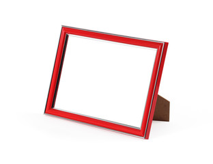 The red picture frame on white background.
