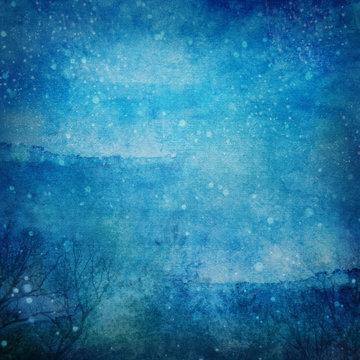 Snowy Winter Night Grunge Texture XXL