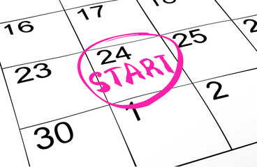 Closeup of dates on calendar page, vector