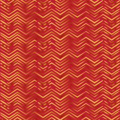 Seamless zigzag pattern in red and gold
