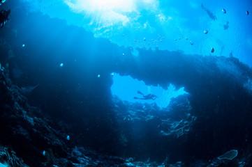 Underwater sunshine in Banda, Indonesia