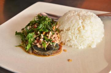 Basil Pork Fried Rice