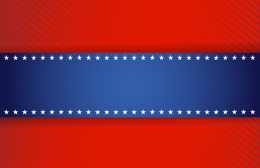 red and blue patriotic illustration