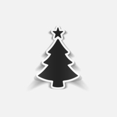 realistic design element: christmas tree