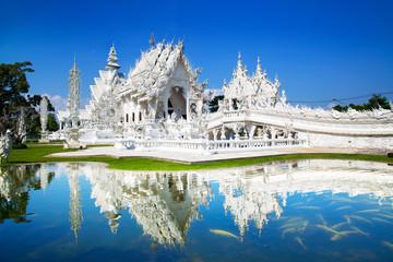 Wat Rong Khun or White Temple, Landmark in Chiang Rai, Thailand. Fototapete