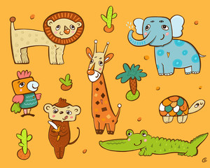 Коллекция зверей Африки