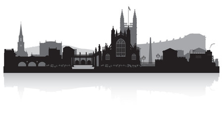 Fototapete - Bath city skyline silhouette