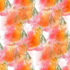artist  pink, orange, green seamless watercolor wallpaper textur
