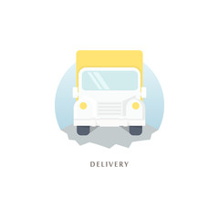 Delivery. Vector illustration.