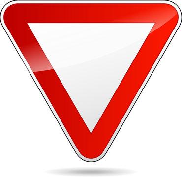 yield triangular road sign
