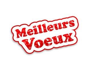 """Etiquette """"Meilleurs Voeux"""" (fêtes joyeuses bannière 2015)"""