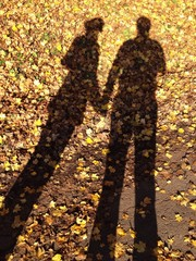 Pärchen Schatten Herbst