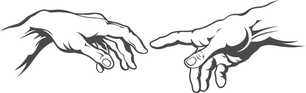 Creation Of Adam Hands Stock Photos And Royalty Free Images Vectors And Illustrations Adobe Stock