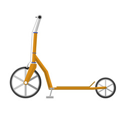Flat vector illustration of electrical scooter