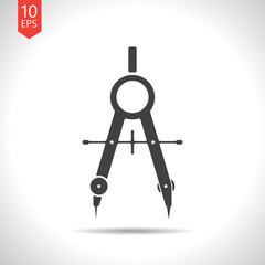 Vector compasses icon. Eps10
