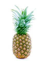 Ripe pineapple isolated on white.