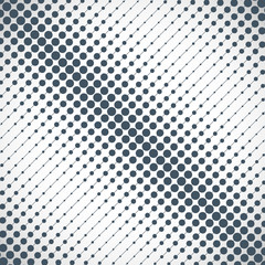 Halftone of the gray dots on gray background