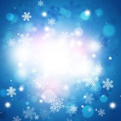 Winter Snow BLue Background