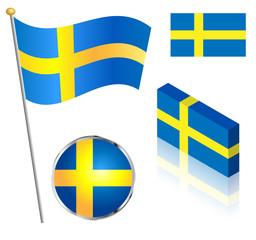 Swedish Flag Set