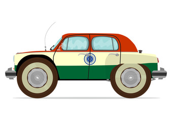 Funny old Indian car