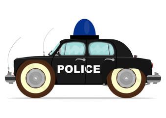 Funny old police car