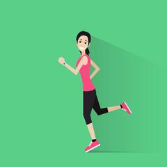 sport woman run with fitness tracker on wrist girl runner
