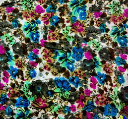 cut textile fabrics of different colours