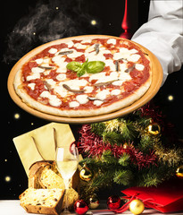 Pizza at Christmas