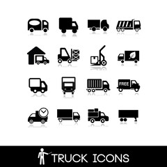 Truck black icon - Set 5
