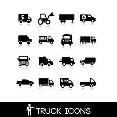 Truck black icon - Set 6