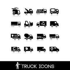 Truck black icon - Set 9