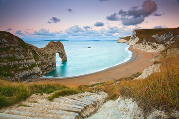 Wall Murals Sea Durdle Door on Jurassic Coast in Dorset, UK.