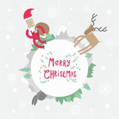 Vintage Christmas poster design