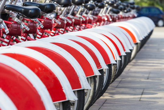 Bikes In A Row, Barcelona