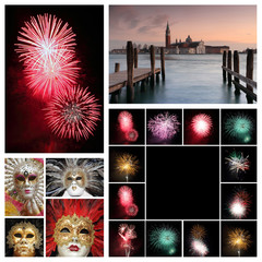 Venetian new years collage