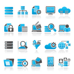 data and analytics icons - vector icon set