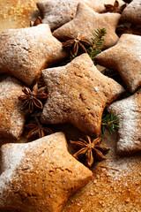 Christmas gingerbread stars