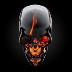 Fire skull