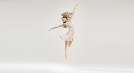 Young beautiful and talented ballet dancer
