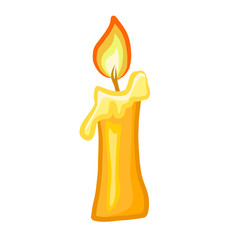 Candle isolated illustration