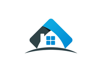 home,house,construction business logo design