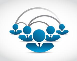 blue people network connection illustration design