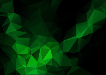 Green butterfly abstract polygonal background