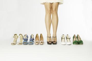 sensual legs and elegant shoes