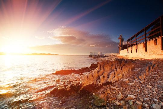 lighthouse in Zadar, Croatia