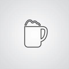 cappuccino outline symbol, dark on white background, logo templa