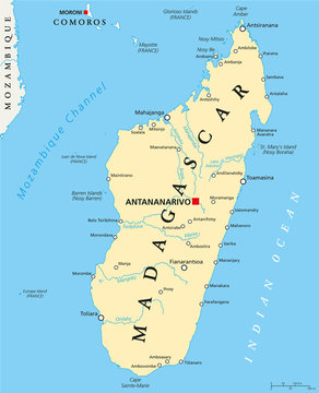 Madagascar Political Map