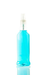 bottle of window cleaner for windows isolated