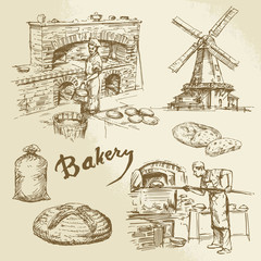 baker, bakery, bread
