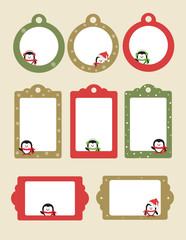 Blank template for Christmas greetings card, postcard or photo